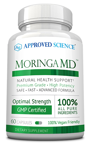 Moringa MD ingredients bottle